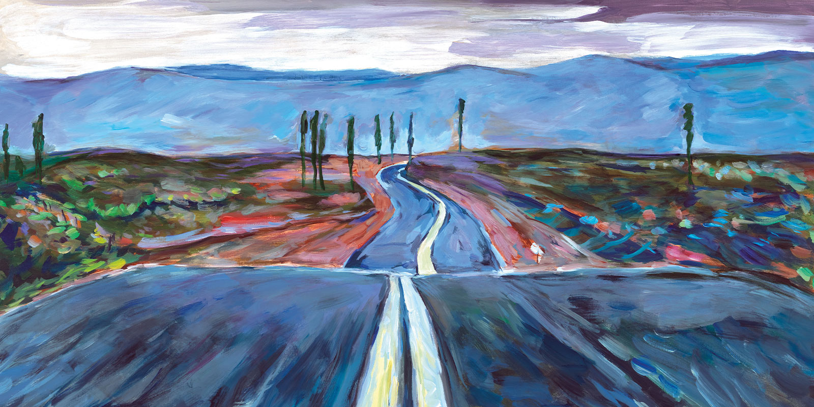 Bob Dylan Endless Highway Artwork - Premium Modern Art - Musiker, Maler & Zeichner