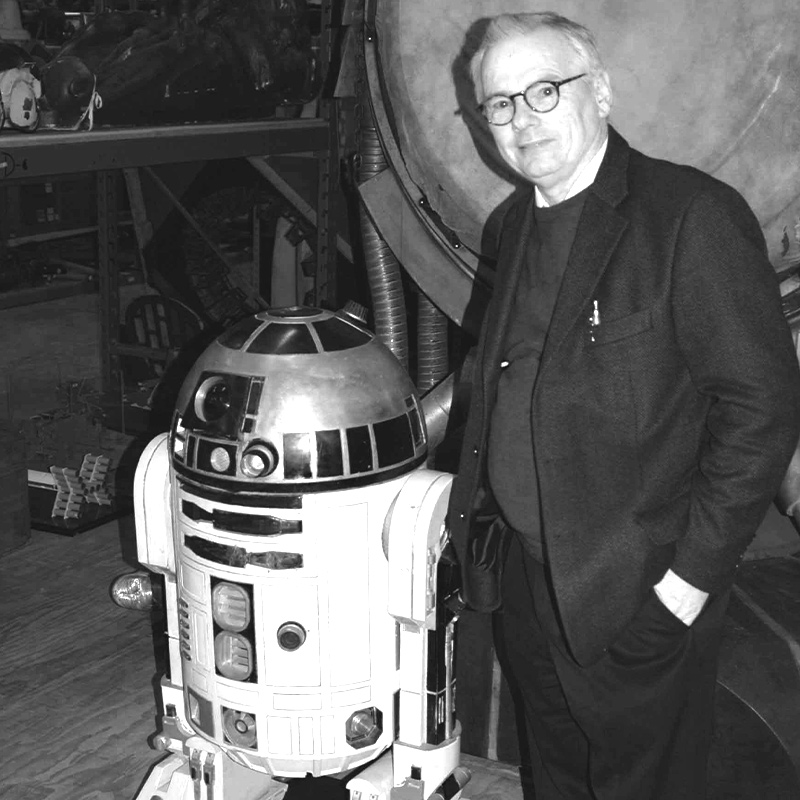 robert bailey at star wars together with r2d2 - artist presented by premium modern art germany
