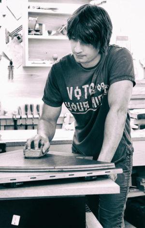 Kris lamba at Work in his Studio