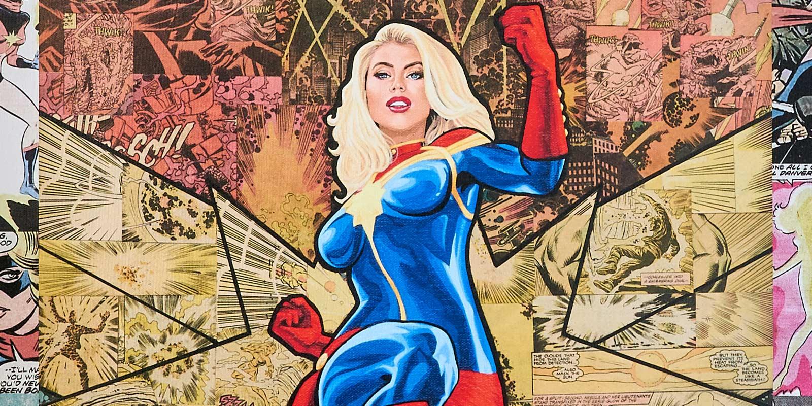 Randy Martinez Captain Marvel Premium Modern Art