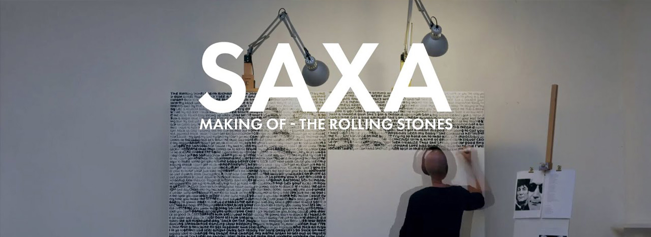 Saxa Making of Rolling Stones Video Banner button